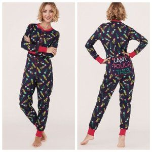 la Vie en Rose NWT Christmas Cactus Onsie Pajamas 'Can't Touch This'